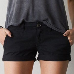 American Eagle Outfitters Twill Midi Shorts